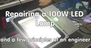 Led Light Flicker Problem 55 Labrep 1 Flickering 100 Watt Led Lamp Floodlight Repair Youtube