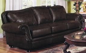 Coaster Leather Sofa Burgundy Leather Sofa By Coaster 501391