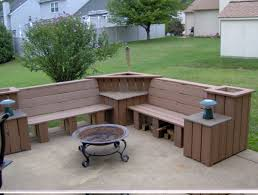 How To Build Patio Bench Seating Backyard Bench Ideas Home Outdoor Decoration