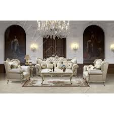 French Provincial Sofas French Provincial Carved Beige Leather Tufted Sofa Set Yourstore