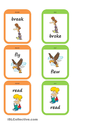 past tense memory game esl worksheets of the day pinterest