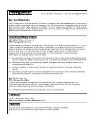 Resume Template Office Office Manager Resume Sample Resume Template Info