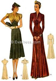 Dinner Dresses 1938 Dinner Dresses D30 9906 Evadress Patterns