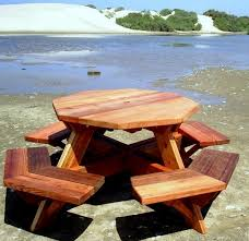 pdf free octagon picnic table plans with umbrella hole