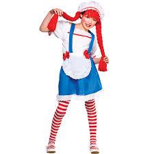 girls little rag doll costume fancy dress up party halloween