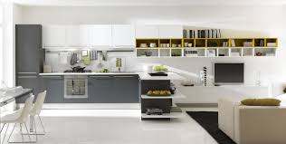 fascinating modern kitchen design featuring gray stained wooden