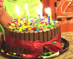 vons grocery choc cake kitkat wrapped around m ms