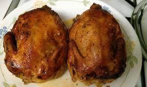 crock pot stuffed cornish hens with orange sauce recipe from