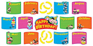 birthday board monkey mischief birthday bunch mini bulletin board set t 8746