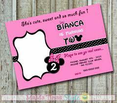 Minnie Mouse Invitation Card Minnie Mouse Invitation Card Tarjeta Invitacion Minnie Mouse