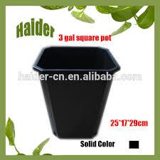 Square Planter Pots by 3 Gallon Black Plastic Square Plant Pots In Factory Price Buy