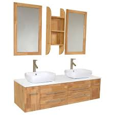 Fresca Bathroom Vanities Fresca Fvn6119nw Bellezza Modern Double Vessel Sink Bathroom