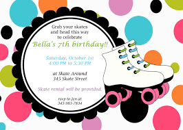 free roller skating party invitation template reagan u0027s party