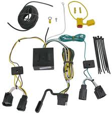 t one vehicle wiring harness with 4 pole flat trailer connector