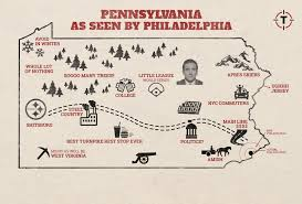 Philadelphia Pa Map How Philadelphia Sees The Rest Of Pennsylvania Map Thrillist