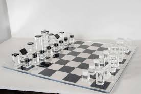 White Chess Set Mid Century Modernist Lucite Chess Set By Rona Cutler At 1stdibs