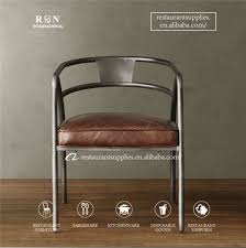 Metal Armchair Vintage Antique Industry Restaurant Furniture Dinning Chair