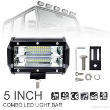 10 Inch Led Light Bar by 5 Inch 72w 10800lm Modified Car Top Led Light With Two Rows Light