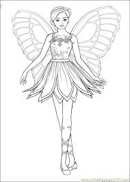 barbie ballerina printable coloring pages 3 icolor