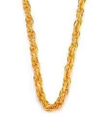 gold metal chain necklace images Goldnera 30 inches long interlocked gold non precious metal chain jpg
