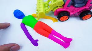 diy how to make kinetic sand rainbow mini human vs truck cars