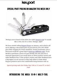 amazon black friday week ends keyport keyport pivot now available on amazon limited time only