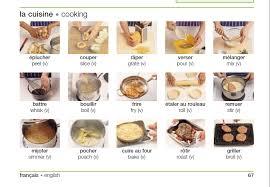 des verbes pour faire une recette fle vocabulaire