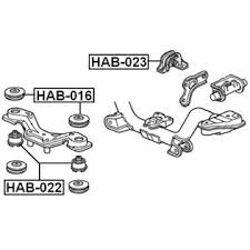 rear differential honda crv febest honda rear differential mount oem 50713 sh9 010