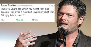 Blake Shelton Meme - shelton s racist and homophobic tweets are really really unsexy