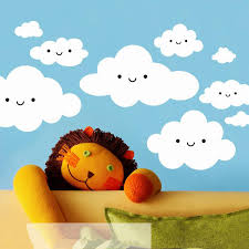 happy smiley face white clouds wall stickers for kids room cute happy smiley face white clouds wall stickers for kids room cute baby wall art decals vinilos