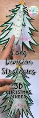 long division strategies 3d christmas trees differentiated long