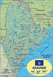 Map De Usa by Map Of Maine United States Usa Map In The Atlas Of The World
