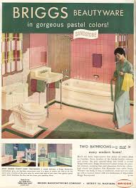 a pink and brown 50s bathroom soothing pretty and retro retro
