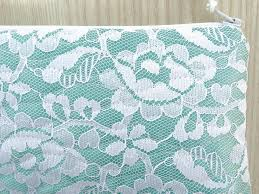 bridal party makeup bags mint to be clutch mint lace cosmetic purse makeup