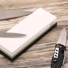sharpening kitchen knives with a stone 3000 8000 grit double side knife sharpener corundum whetstone