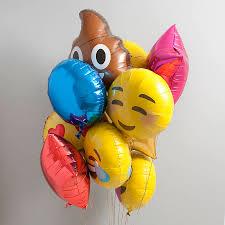 foil balloons assorted emoji foil balloon pack by bubblegum balloons