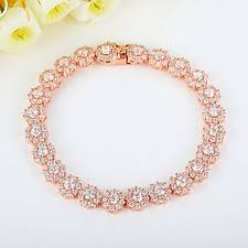 gold plated tennis bracelet images Rose gold plated tennis bracelet pricestage jpg