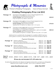 wedding album prices wedding photographer prices widescreen 6 pricing packages