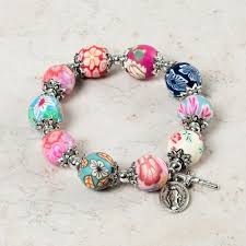 color bead bracelet images Lily multi color rosary bracelet the catholic company jpg