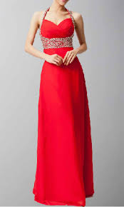 coral pink halter beaded evening dress for tall girls ksp067