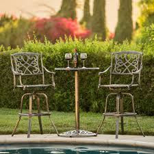 Cast Aluminum Patio Table And Chairs by Best Choice Products Outdoor Patio 3 Piece Cast Aluminum Bistro Set T