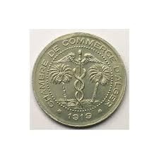 chambre de commerce tunisie algérie alger chambre de commerce lec 129 5 centimes 1919 aluminium fdc
