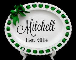 personalized serving trays platters monogram platter etsy