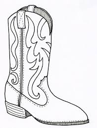 cowboy boot pattern printable outline crafts