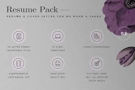 modern cv template for word resume templates creative market