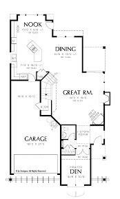 Floor Plans For Narrow Lots by Stylish Idea Narrow Lot Open House Plans 7 17 Best Images About