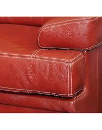 canapé cuir de buffle canape torino cuir buffle deux et trois places deco meubles