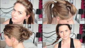 gymnastics picture hair style 3 quick easy hairstyles for a gym workout tutorial youtube