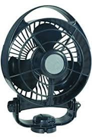 12 volt marine fans amazon com caframo sirocco 12v gimbal 3 speed fan black small