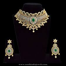 plated choker necklace images One gram gold plated choker necklace with price south india jewels jpg